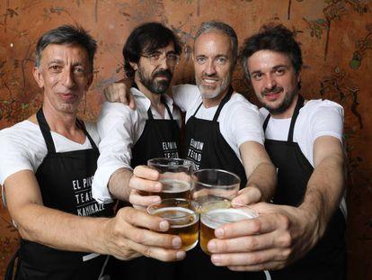 De izquierda a derecha, Aitor Tejada, Israel Elejalde, Miguel del Arco y Jordi Buxó, socios del Teatro Kamikaze.