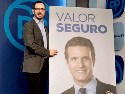 Javier Maroto presenta el eslogan del PP para las elecciones de 28 de abril. En vídeo, las declaraciones de Casado sobre Rivera.