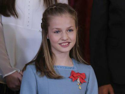 La princesa Leonor en la imposición del Toisón de Oro, el 30 de enero de 2018.