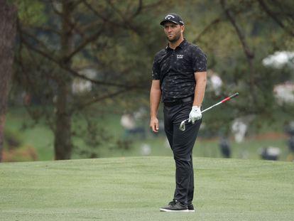 Jon Rahm durante la jornada de este sábado del Masters de Augusta.