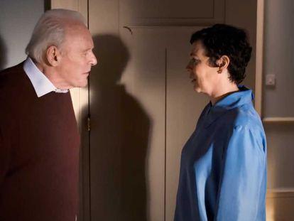 Anthony Hopkins y Olivia Colman, en 'The Father'.