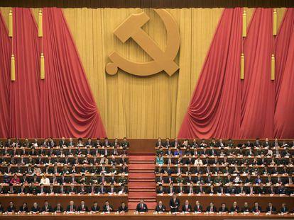 El presidente de China, Xi Jinping, presidente la ceremonia de inauguración del 19ª Congreso del Partido Comunista Chino en Pekín.