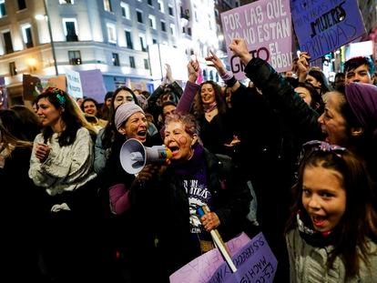 Manifestación por el día de la mujer, el pasado 8 de marzo, en Madrid.