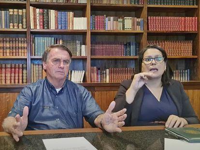 Captura de la transmisión en vivo del presidente Bolsonaro que fue bloqueada por Facebook e Instagram.