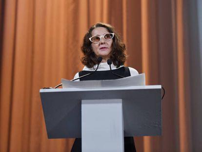 La presidenta de la competición oficial del Festival de Venecia, Lucrecia Martel.