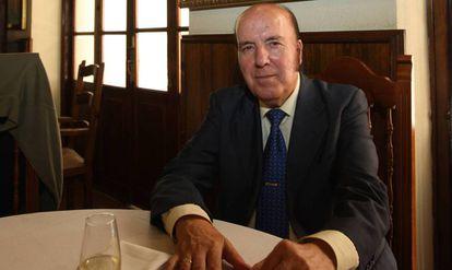 El humorista Chiquito de la Calzada en el restaurante Chinitas de Málaga.