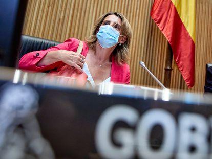 Teresa Ribera, ministra para la Transición Ecológica y Reto Demográfico, el pasado 30 de agosto en el Congreso.