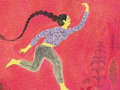 Ilustración de Paloma Corral para la portada del libro 'Un hilo me liga a vos' de Beatriz Giménez de Ory, editado por SM.