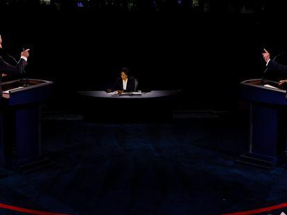 Biden y Trump, en un momento del debate.