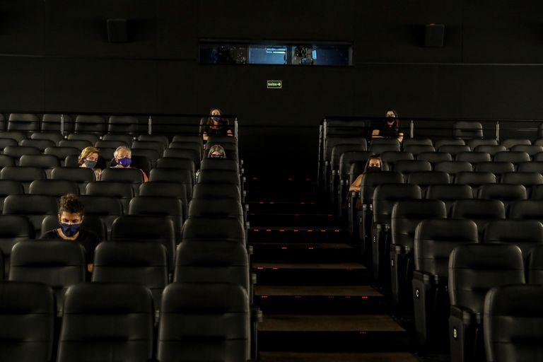 Una sala de cine en São Paulo este sábado.