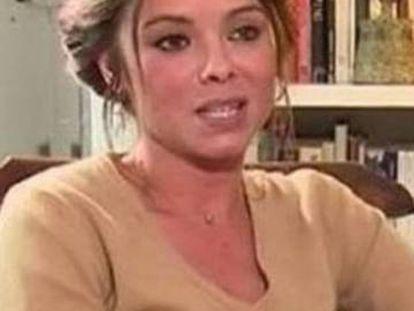 Mariana Gónzalez Gómez, en una entrevista de la televisión francesa.