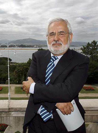 Miguel Ángel Quintanilla, en Santander.