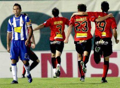 Tamudo, tras un gol del Mallorca
