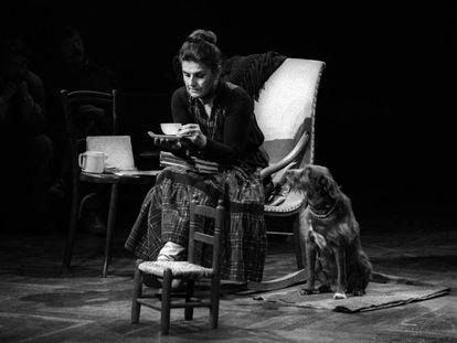 La actriz catalana Carlota Soldevila en una puesta en escena.