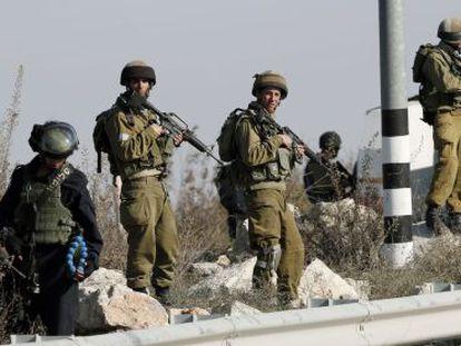 Soldados del Ejército israelí el pasado 11 de diciembre en Cisjordania.