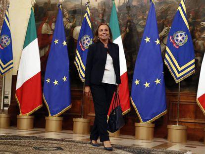 La ministra del Interior italiana, Luciana Lamorgese, este mes en Roma.