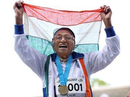 La india Man Kaur, que comenzó a entrenar con 93 años y ya tiene 17 metales de oro, triunfa en los  World Master Games , los juegos olímpicos para mayores