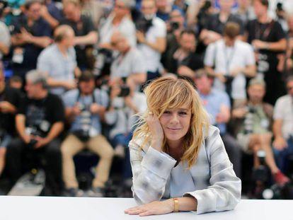 Emma Suárez, en la presentación en Cannes de 'Las hijas de Abril'.
