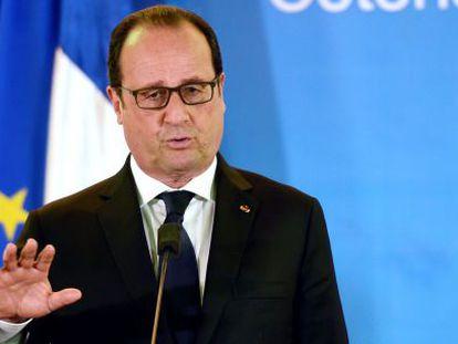 El presidente francés, François Hollande, este jueves.