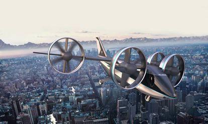 El Nexus 4EX, de la compañía estadounidense de helicópteros Bell, se empezará a probar este año en Dallas y Los Ángeles (transportando materiales, no personas).c