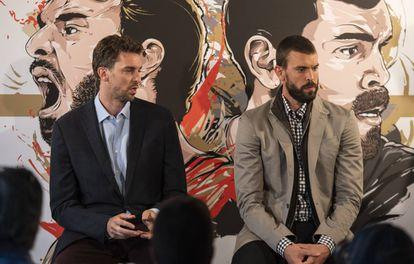 Los hermanos Pau y Marc Gasol.