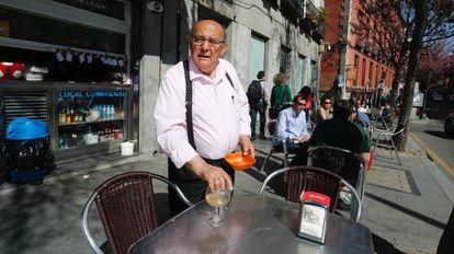Un autónomo propietario de un bar en Madrid.