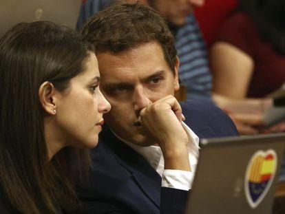 Inés Arrimadas y Albert Rivera, en una imagen de archivo