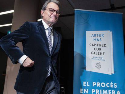 Artur Mas, en el acto de presentación de su libro.