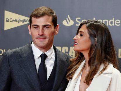 Iker Casillas y Sara Carbonero durante un evento en Madrid en diciembre de 2018.