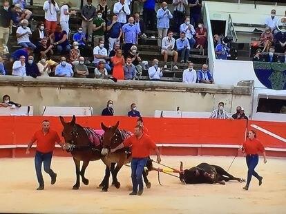 El tercer toro de Victoriano del Río recibió el honor de la vuelta al ruedo.