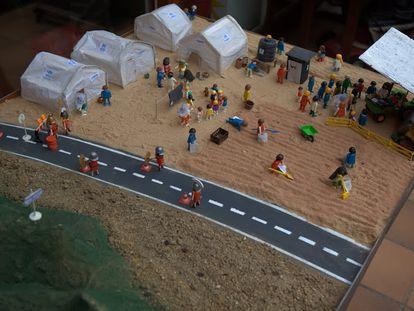 El niño Jesús nace en un campo de refugiados