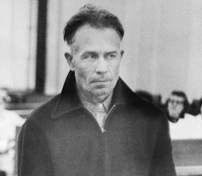 Edward Gein, tras su detención, cuando contaba con 51 años de edad.
