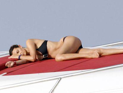 La modelo MAR FLORES durante unas vacaciones en Ibiza en 2012.