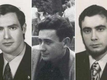 José Humberto Fouz, Jorge Juan García y Fernando Quiroga, Los tres jóvenes desaparecidos  en 1973 y presuntamente asesinados por ETA.