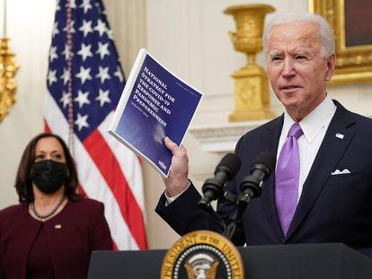 Joe Biden y Kamala Harris, este jueves en la Casa Blanca.