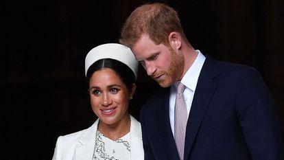 Enrique de Inglaterra y Meghan Markle, el 11 de marzo de 2019 en Londres.