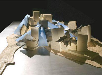 Maqueta del futuro Museo Guggenheim en Abu Dabi.
