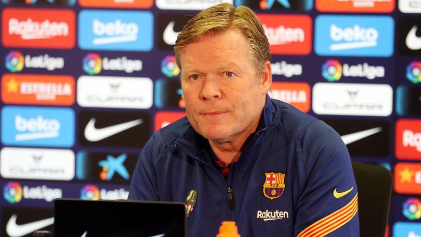 Ronald Koeman cree que no es el mejor entrenador para Barcelona, pero espera continuar en el club