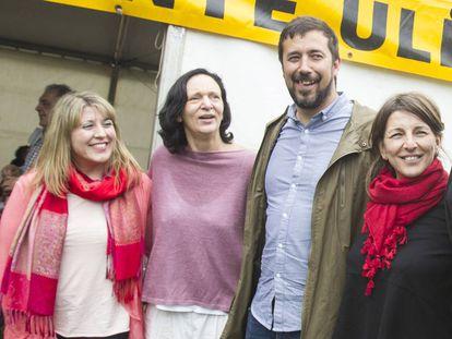 Santos, Bescansa, Gómez-Reino y Yolanda Díaz, en 2016 en Santiago.