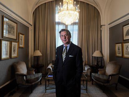 Miguel Ángel Merino, consejero delegado de la compañía de seguros Línea Directa, durante la entrevista realizada en el Hotel Palace (Madrid).