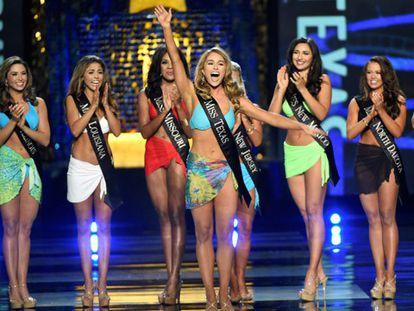 La Miss en un momento de la gala de Miss América.