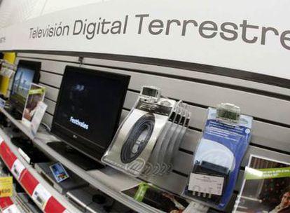 Sintonizadores digitales y antenas diseñados para recibir la TDT.