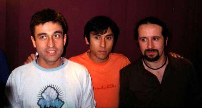 Los componentes de Los Prisioneros, Jorge González, Claudio Narea y Miguel Tapia, en 2001.