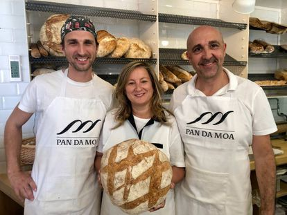 La familia Moscoso en Pan da Moa en Santiago.