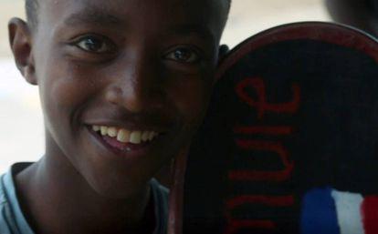 Un patinete, una sonrisa. Etiopía.
