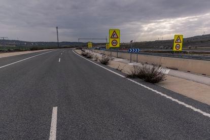 Tramo de la carretera M- 203 en Mejorada del Campo, Madrid.