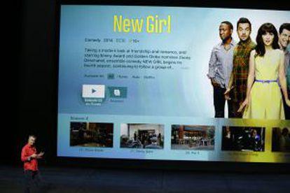 Eddy Cue presenta la nueva Apple TV.