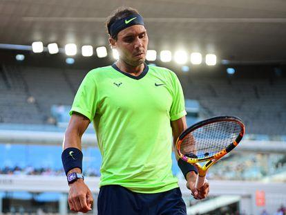Nadal, durante la semifinal contra Djokovic en Roland Garros.