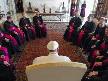 El Papa, en una reunión 'ad limina' este viernes con obispos ucranios