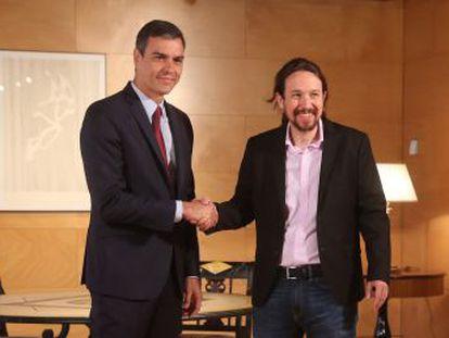 Fuentes socialistas aseguran que el líder de Podemos ha reclamado una vicepresidencia en el encuentro, algo que niegan desde su partido